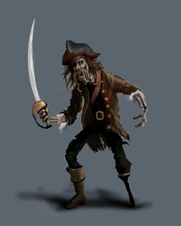 Цифровой Окунитесь: зомби Pirate speedpaint | Pirates | Pinterest