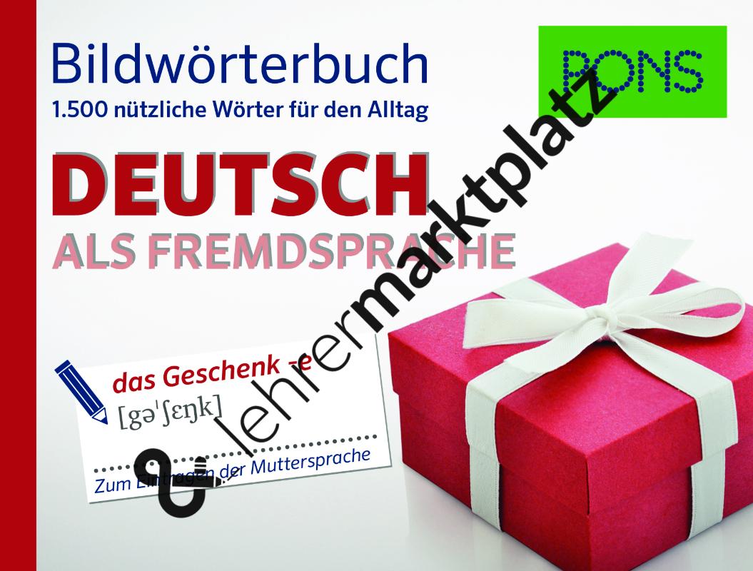 Bildwörterbuch Deutsch als Fremdsprache – D.a.F. / D.a.Z.   DaF ...