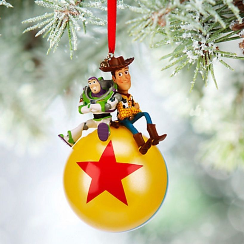 Disney Store Pixar Buzz Lightyear And Woody Luxo Ball Sketchbook Ornament New Dis Disney Christmas Decorations Sketchbook Ornaments Disney Christmas Ornaments