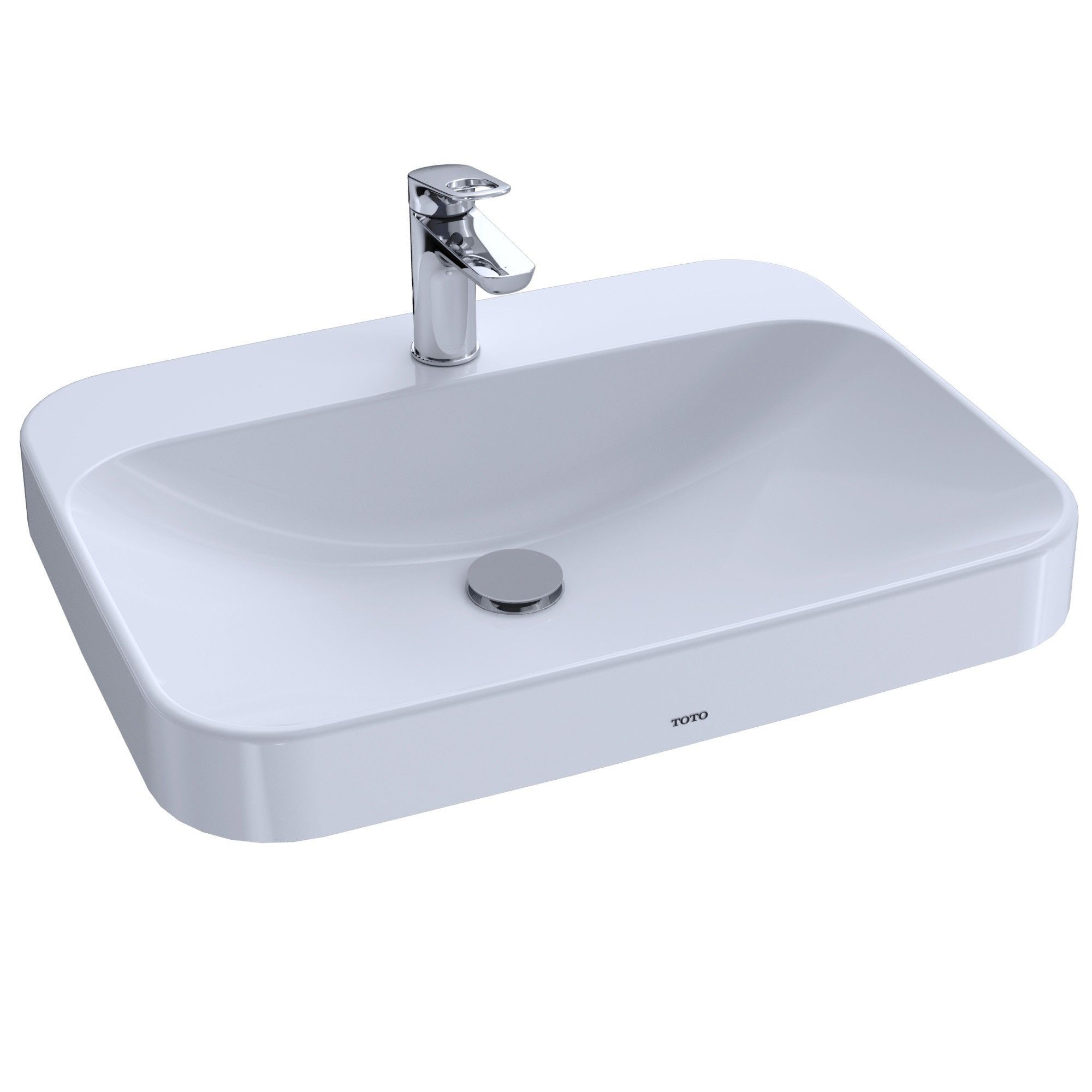 Toto Arvina Rectangular 23 Vessel Bathroom Sink With Cefiontect