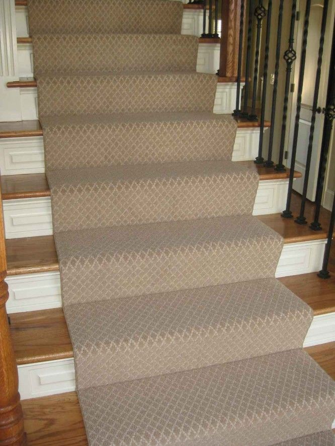 Beautiful Decorations Accessories, : Non Slips Brown Gray Stair Carpet Runners In VIntage  Stairs Ideas