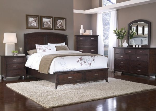 Bedroom Decorating Ideas With Dark Furniture paint colors with dark wood furniture | room ideas | pinterest