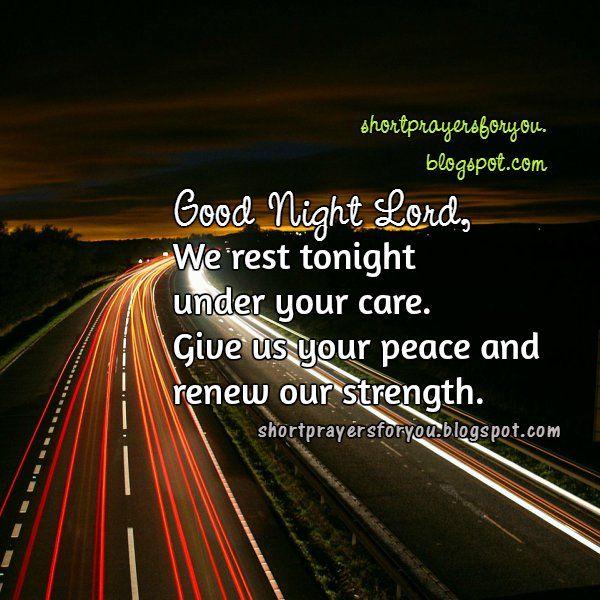 Night short prayer. Good Night Lord | Short Prayers for You