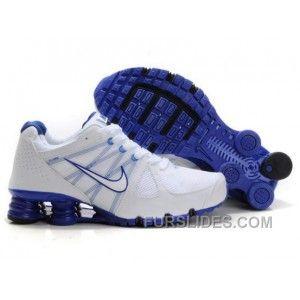 8c1aa31a1ce Men s Nike Airmax 2009   Shox R4 Shoes White Dark Blue Super Deals ...