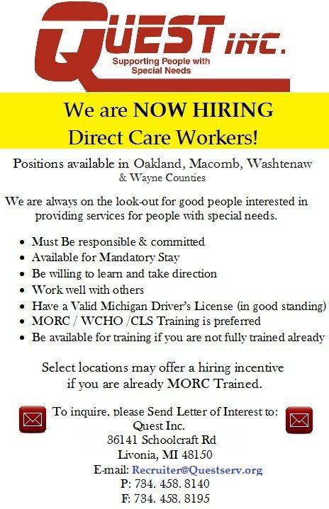 Calling all Direct Care Workers  Personal Assistants in Metro