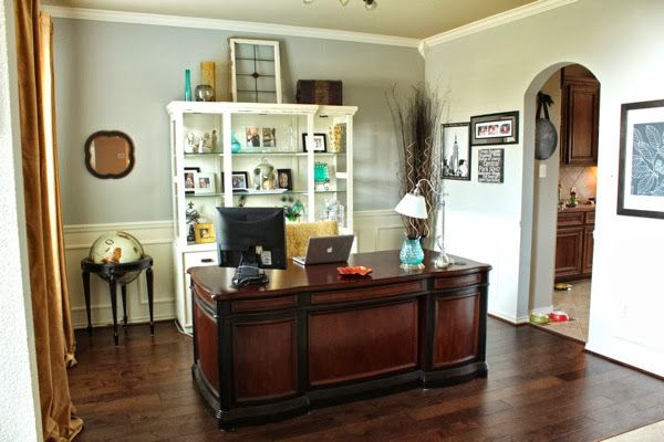 Turning A Formal Living Room Into An Office