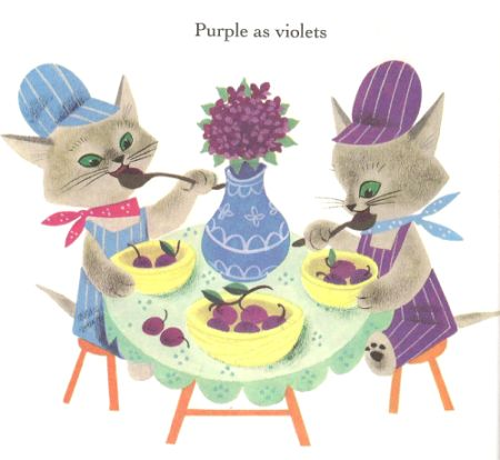 From the Little Golden Book The Color Kittens, by Margaret Wise Brown, illustrated by Alice and Martin Provensen, 1949