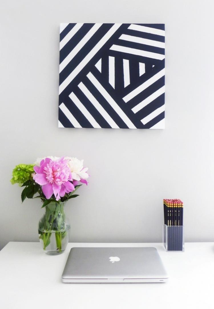 DIY Geometrisches Bild in Schwarz und Weiß | HOME | Pinterest ...