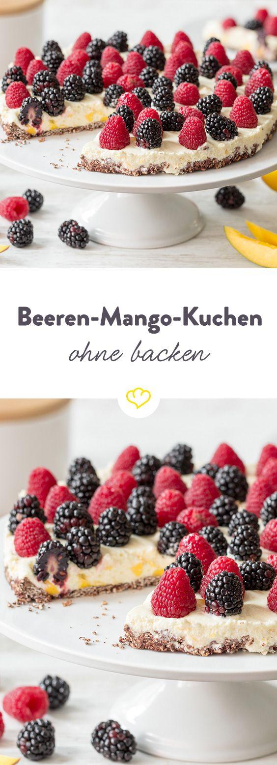 schneller kuchen mit mango creme ohne backen rezept sommerkuchen summer cakes pinterest. Black Bedroom Furniture Sets. Home Design Ideas