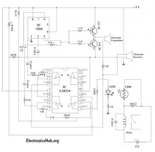 Fine Figure 1 Automatic Door Bell With Object Detection Circuit Diagram Wiring Cloud Hisonuggs Outletorg