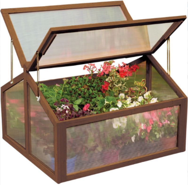 3 Ft.W x 3 Ft. D Cold Frame Greenhouse with 2 Door Adjustable ...