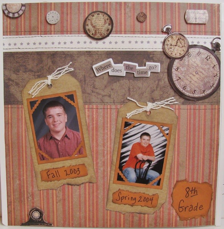 Scrappin' Becky B.: A Scrapbook Page a Day During the Month of May: No. 5