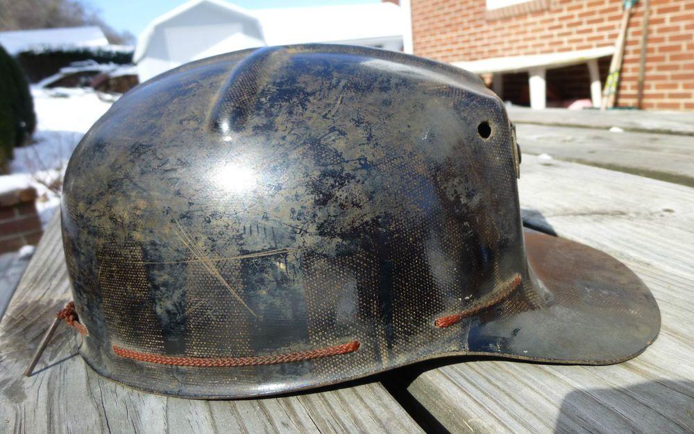 Vintage MSA Comfo Cap Tiger Stripe Coal Mining Miner's Helmet Hat Size 7 Liner