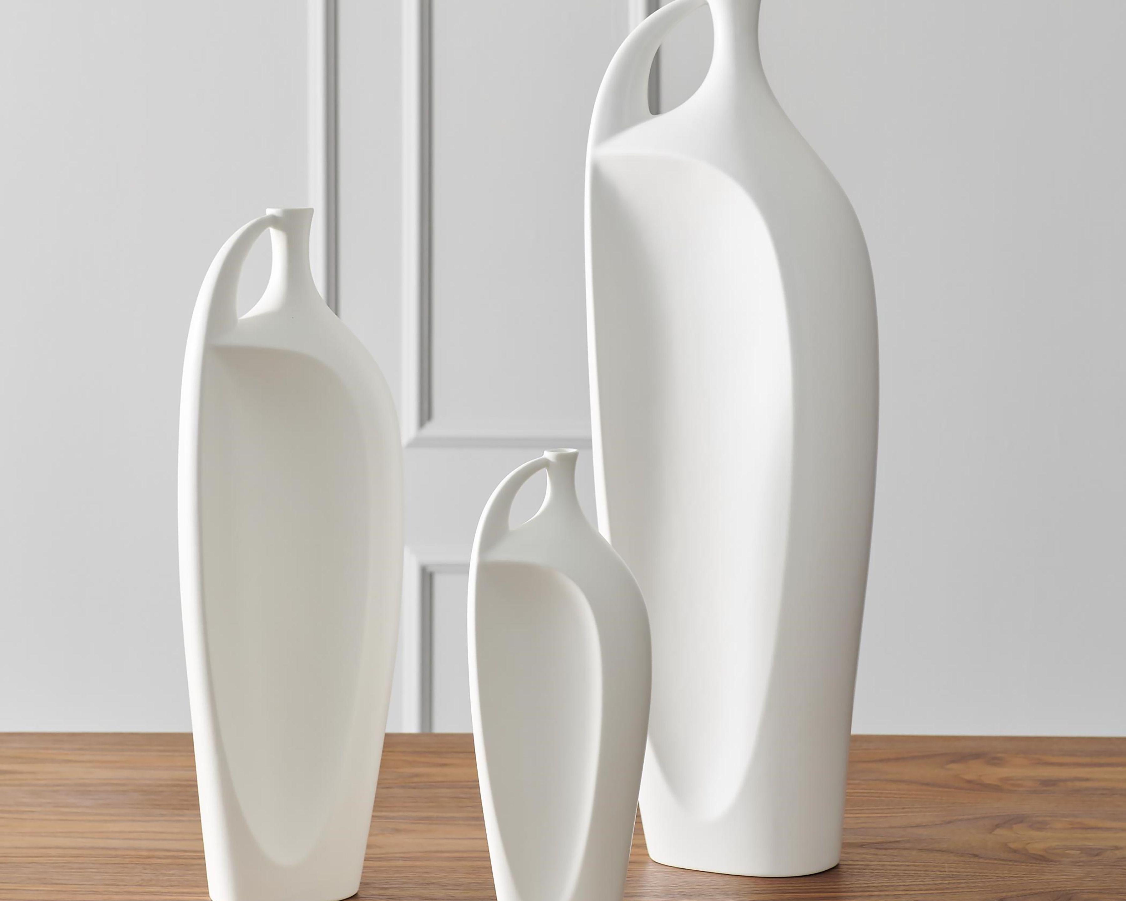 Global Views Matte White Large Vase, White in 20   White ceramic ...