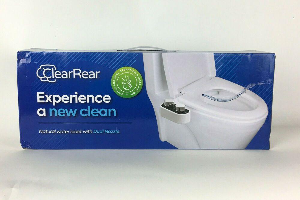 Clear Rear Adjustable Bidet Washer Fresh Water Spray Dual Nozzle Easy Setup New Clearrear In 2020 Water Spray Nozzle Bidet