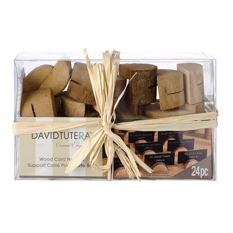 Consumercrafts Product David Tutera Rustic Wedding Wood Place Card Holders 24 Pieces