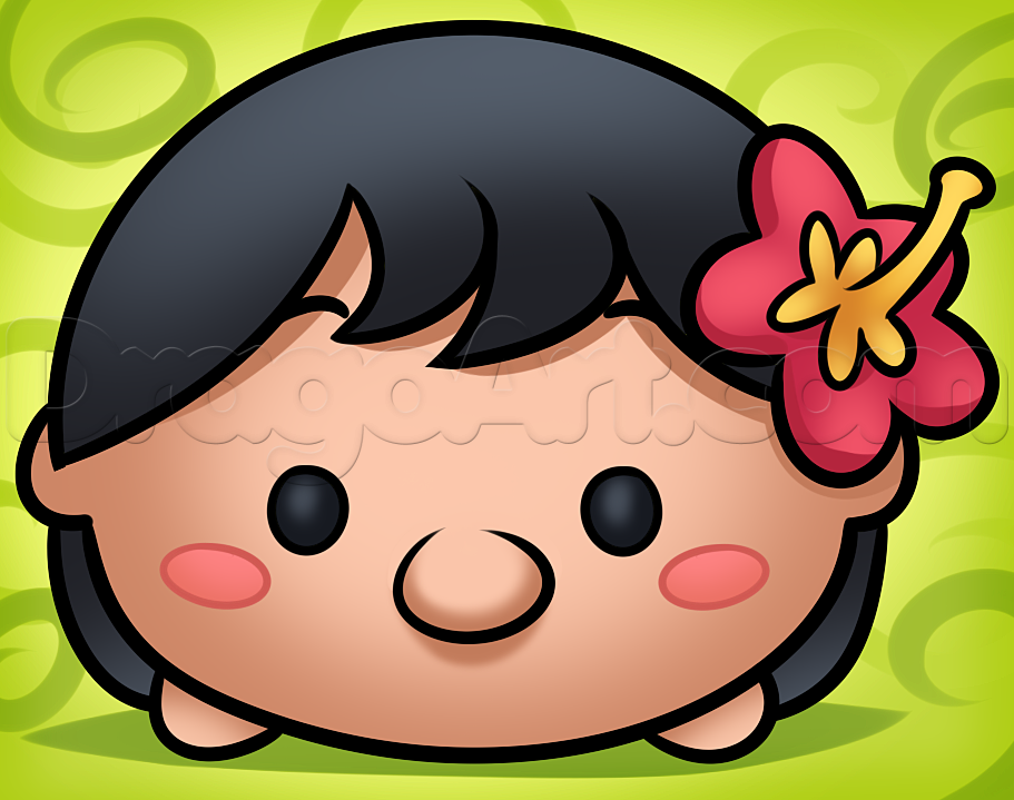 Como Dibujar Y Pintar A Tsum Tsum De Ariel 2: How To Draw Tsum Tsum Lilo