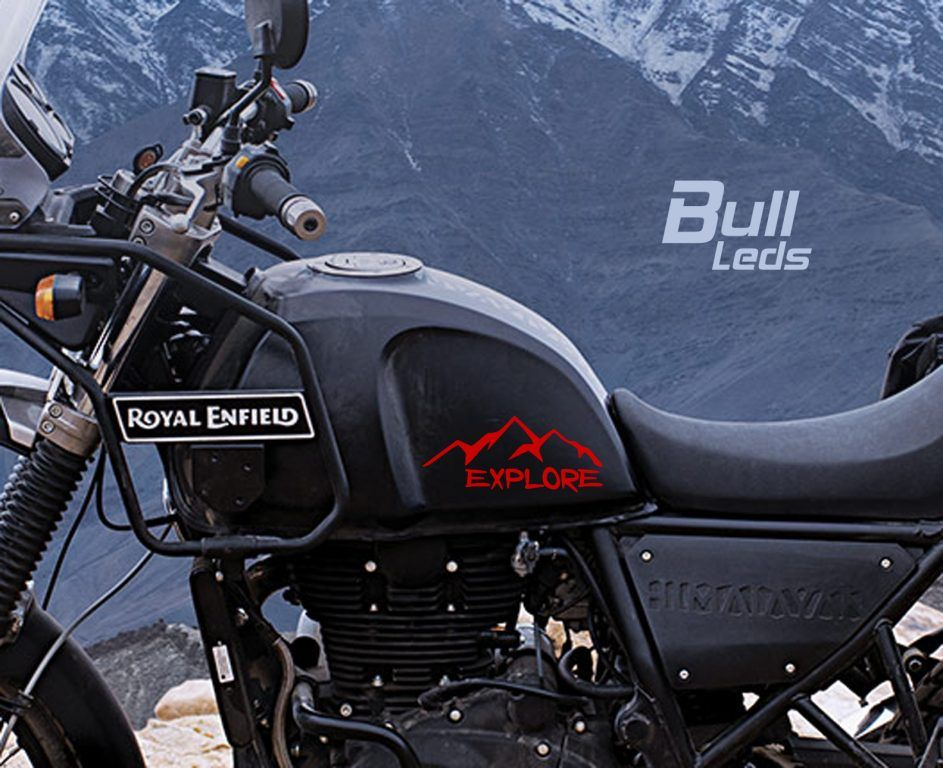 Bull Prints Gt Royal Enfield Himalayan Decal Explore Mountains