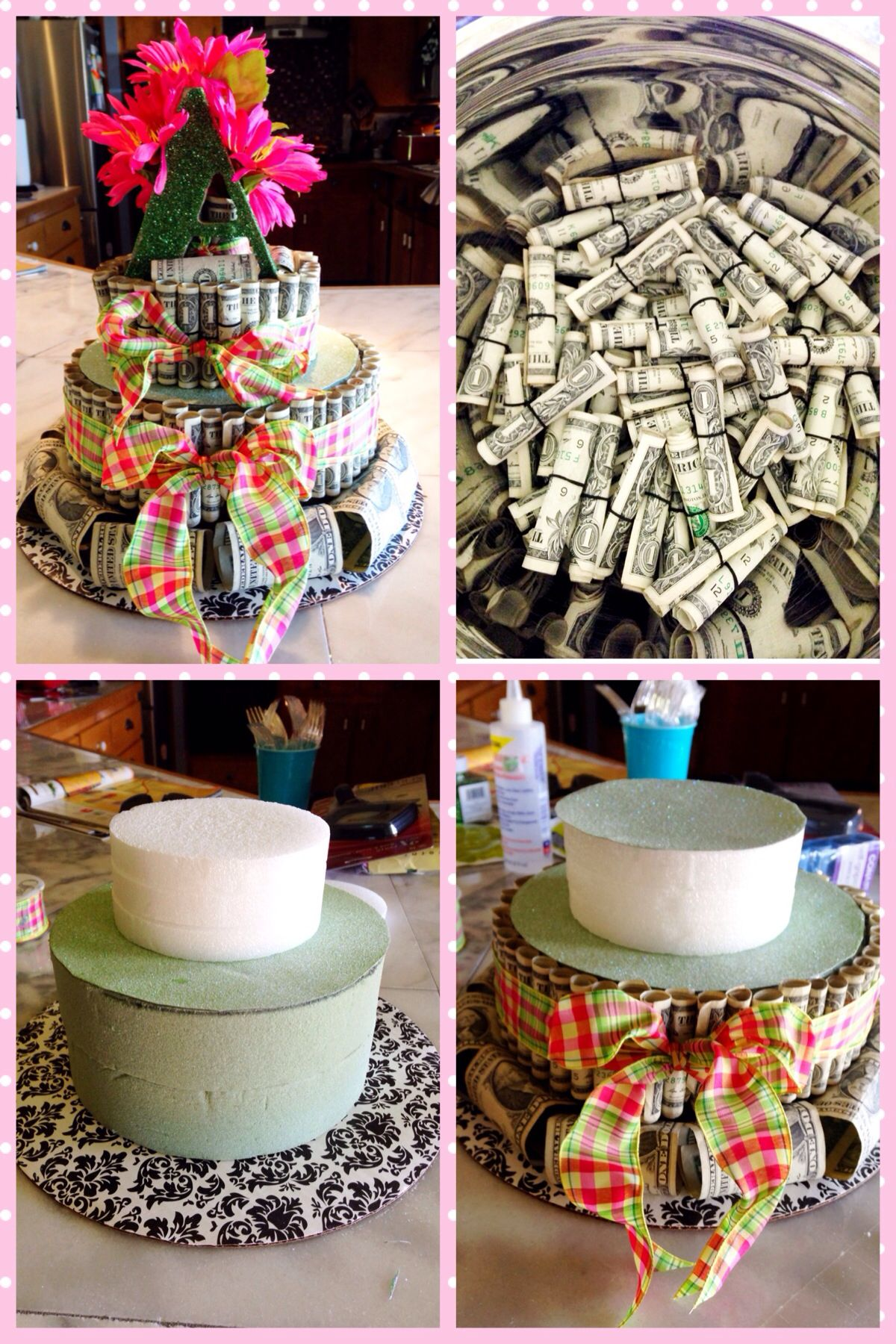 Money Cake 100 Money Cake Birthday Money Creative Money Gifts
