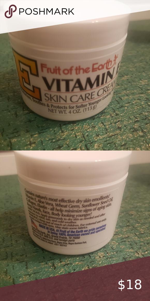 Fruit Of The Earth Vitamin E 4 Oz Skin Cream In 2020 Skin Cream Skin Cream Brands Vitamin E