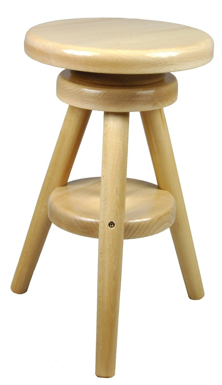 Hocker Massiv Schemel Stuhl Sitz Sitzmöbel Buche Drehhocker Barhocke ...