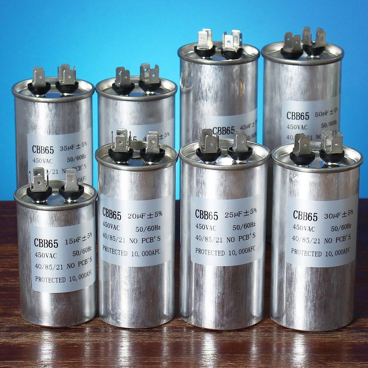 15-50uF Motor Capacitor CBB65 450VAC Air Conditioner Compressor ...