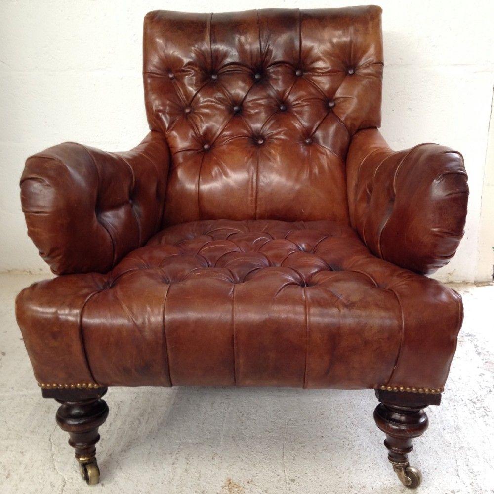 large leather armchair howard style Leather armchair