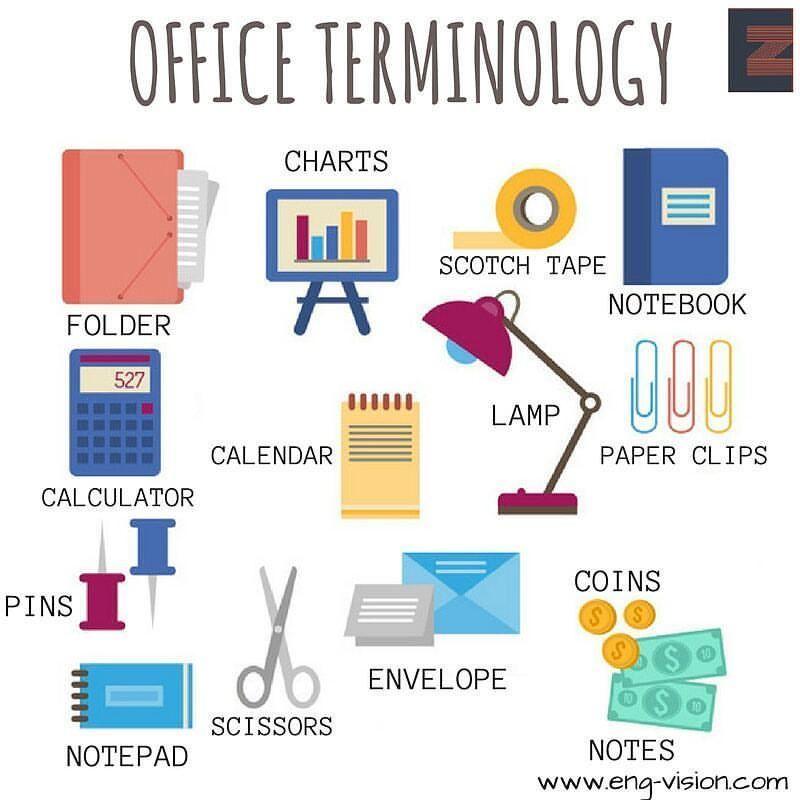 Vocabulary Office Terminology Useful Vocabulary English