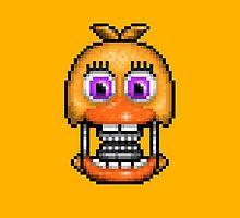 Adventure Withered Chica - FNAF World - Pixel Art by GEEKsomniac