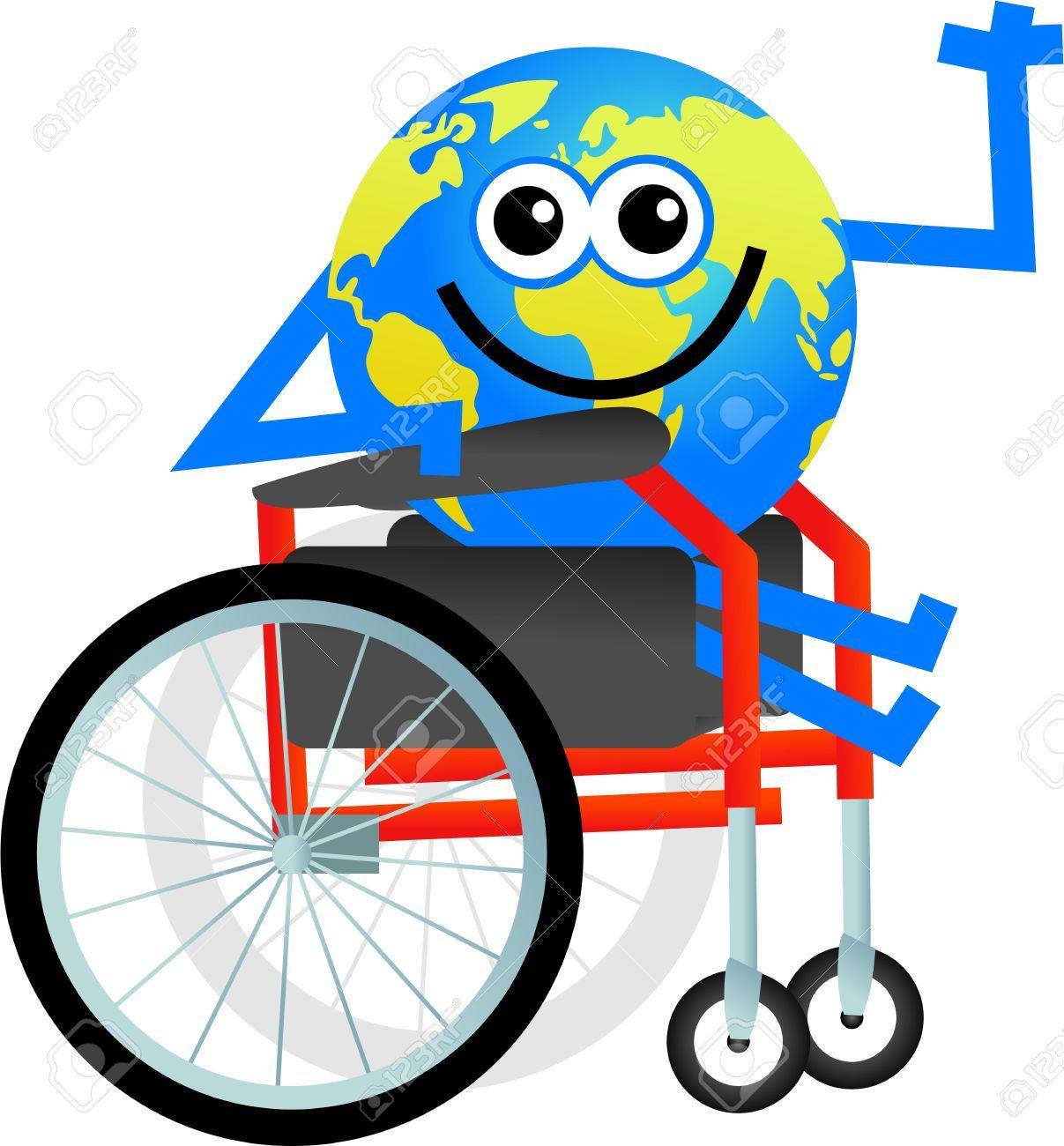 Mundo de dibujos animados hombre sentado en una silla de for Sillas para discapacitados