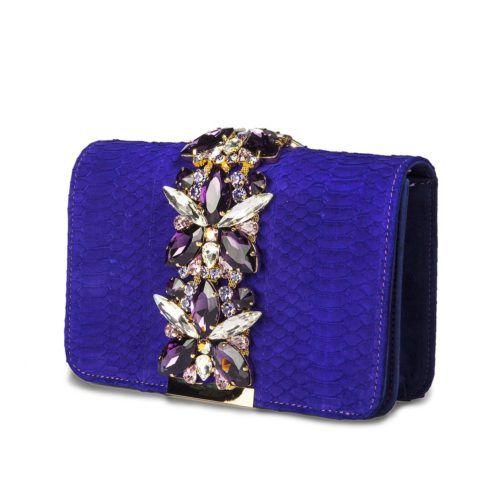 Borsa modello Positano (medium) wips nabuk viola – Emanuela Caruso Capri
