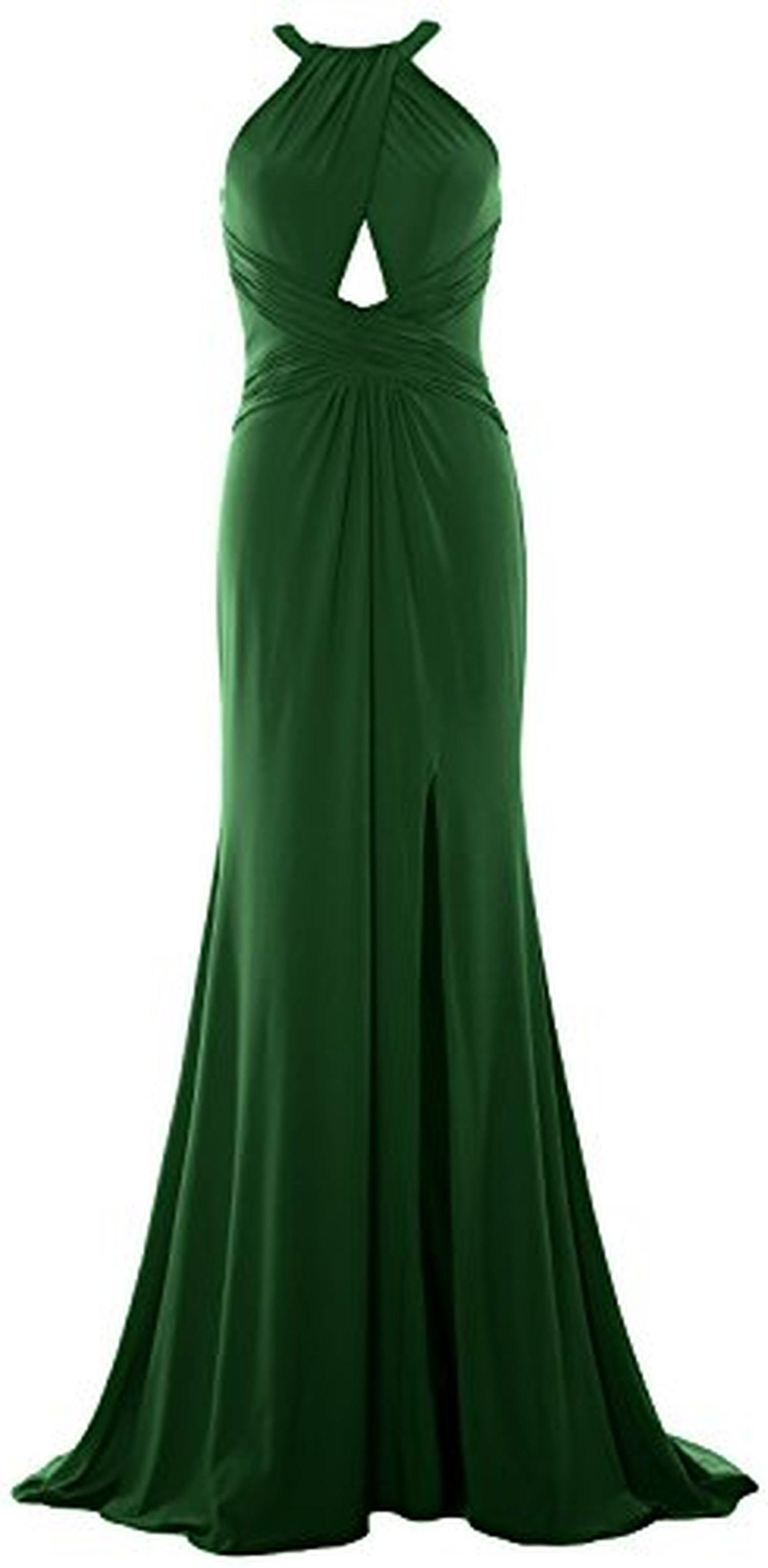 7696ddcb7c4 MACloth Women Mermaid Halter Sexy Jersey Formal Evening Gown Prom Ball Gown  (26w, Dark Green) - Brought to you by Avarsha.com