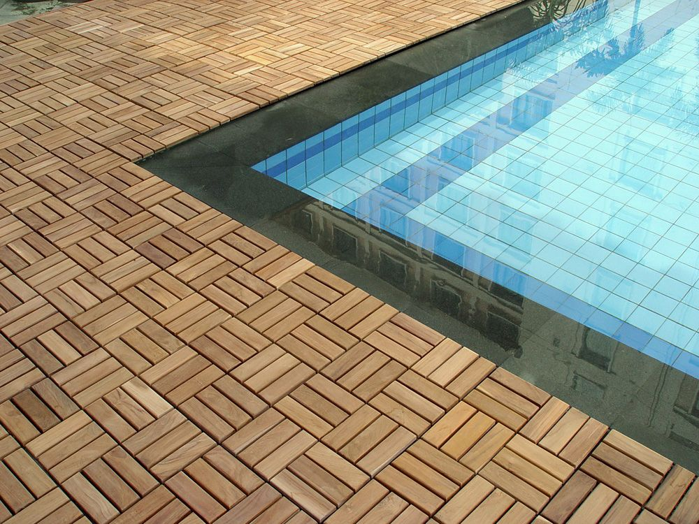 Decks Done With Deck Tiles Tile Pool Surround