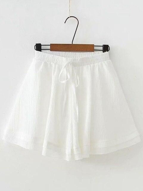 Women Chiffon Shorts Casual Ladies High Waist Short Pants With Belt... #chiffonshorts