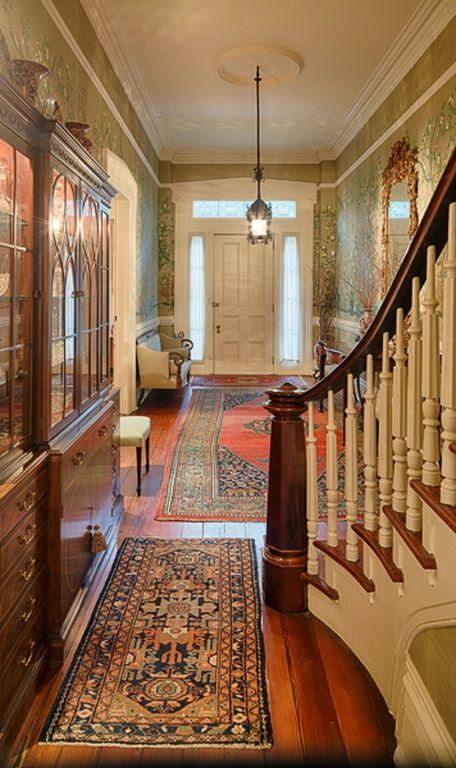 Row House Foyer : Tour a historic savannah row house on beautiful monterey