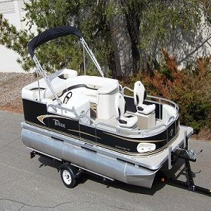 14 ft pontoon will get me there. | Mini pontoon boats, Small