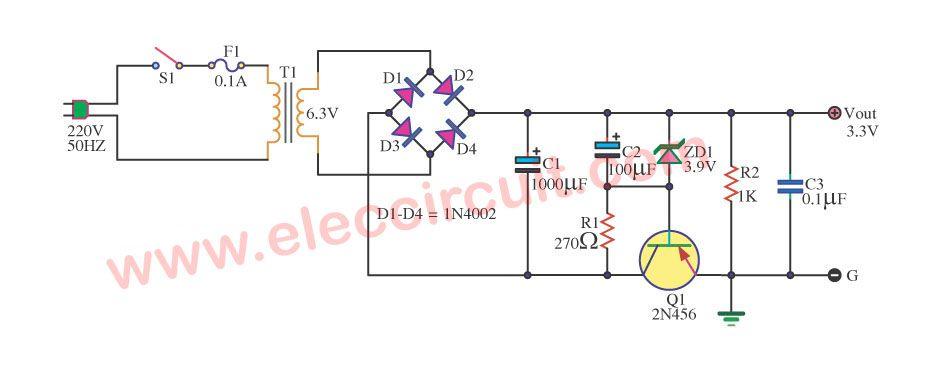 Circuit Using Pnp Transistor Powersupplycircuit Circuit Diagram