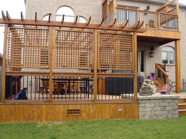 Privacy patio screen pergola - Backyard Privacy Screens Privacy Screens Burlington, Oakville