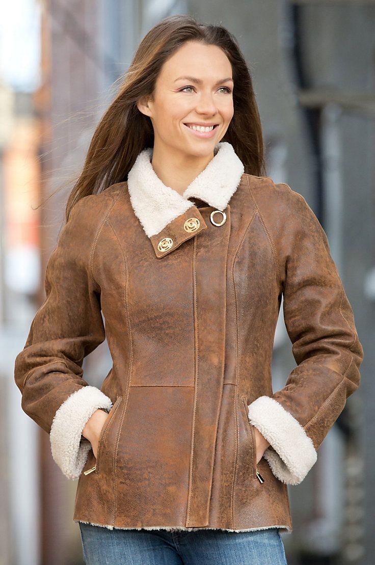 Alexandra Shearling Sheepskin Jacket Sheepskin coat