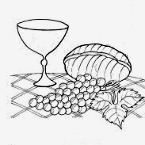 Calice Uvas E Pao Simbolos Eucaristicos Desenho De Uva Pao