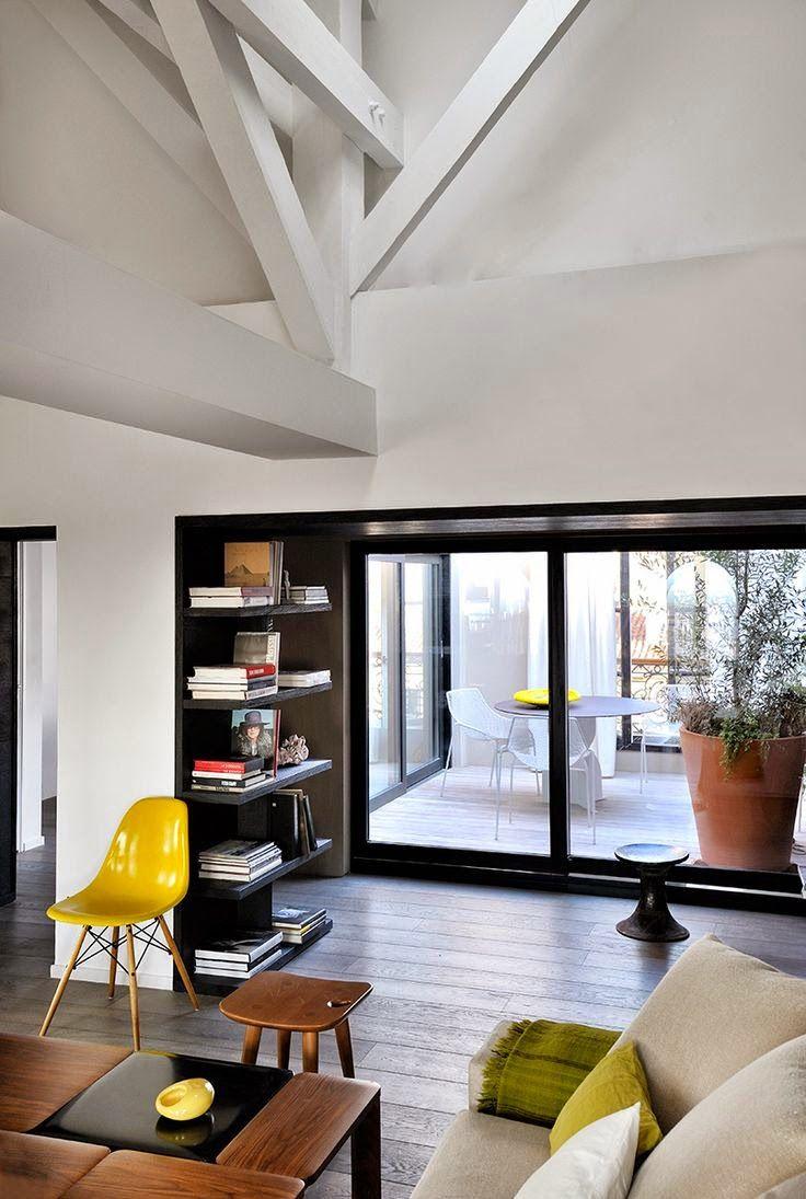 Chic et design la touche dagathe sobre sober modern moderne contemporain furniture interieur livingroom staircase couture luxueux luxe