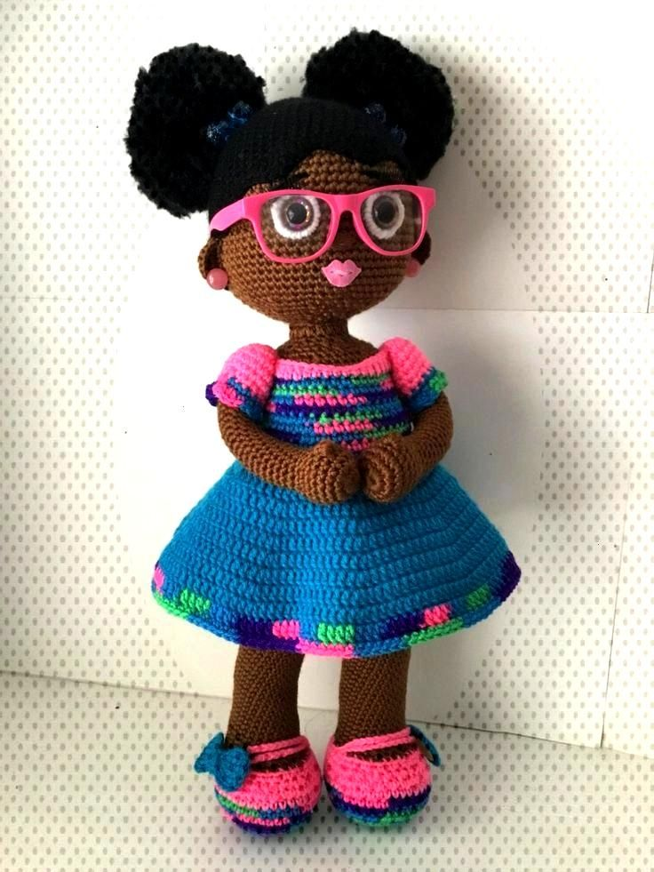 Crochet Doll con dos puffs afro | Etsy