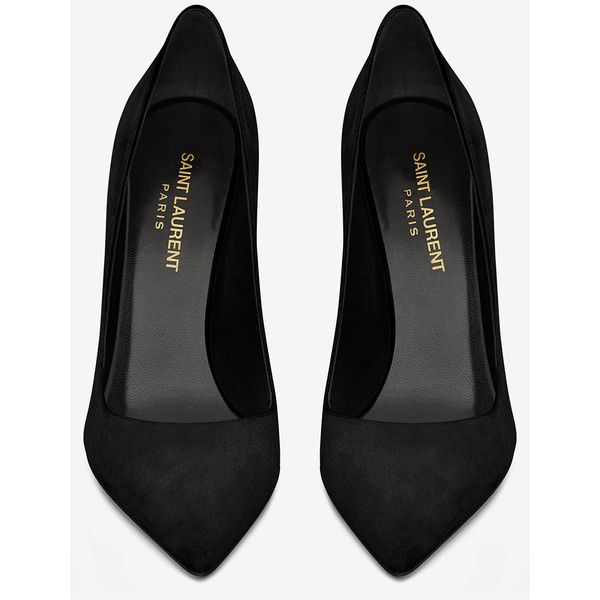 Saint Laurent Classic Paris Skinny 105 Escarpin Pump In Black Suede