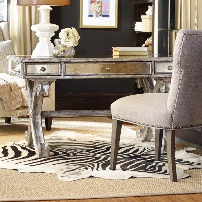 mirrored office furniture. Hooker Furniture Mirrored X-Base Writing Desk - Add Rustic Charm To Your Office Space With The . I