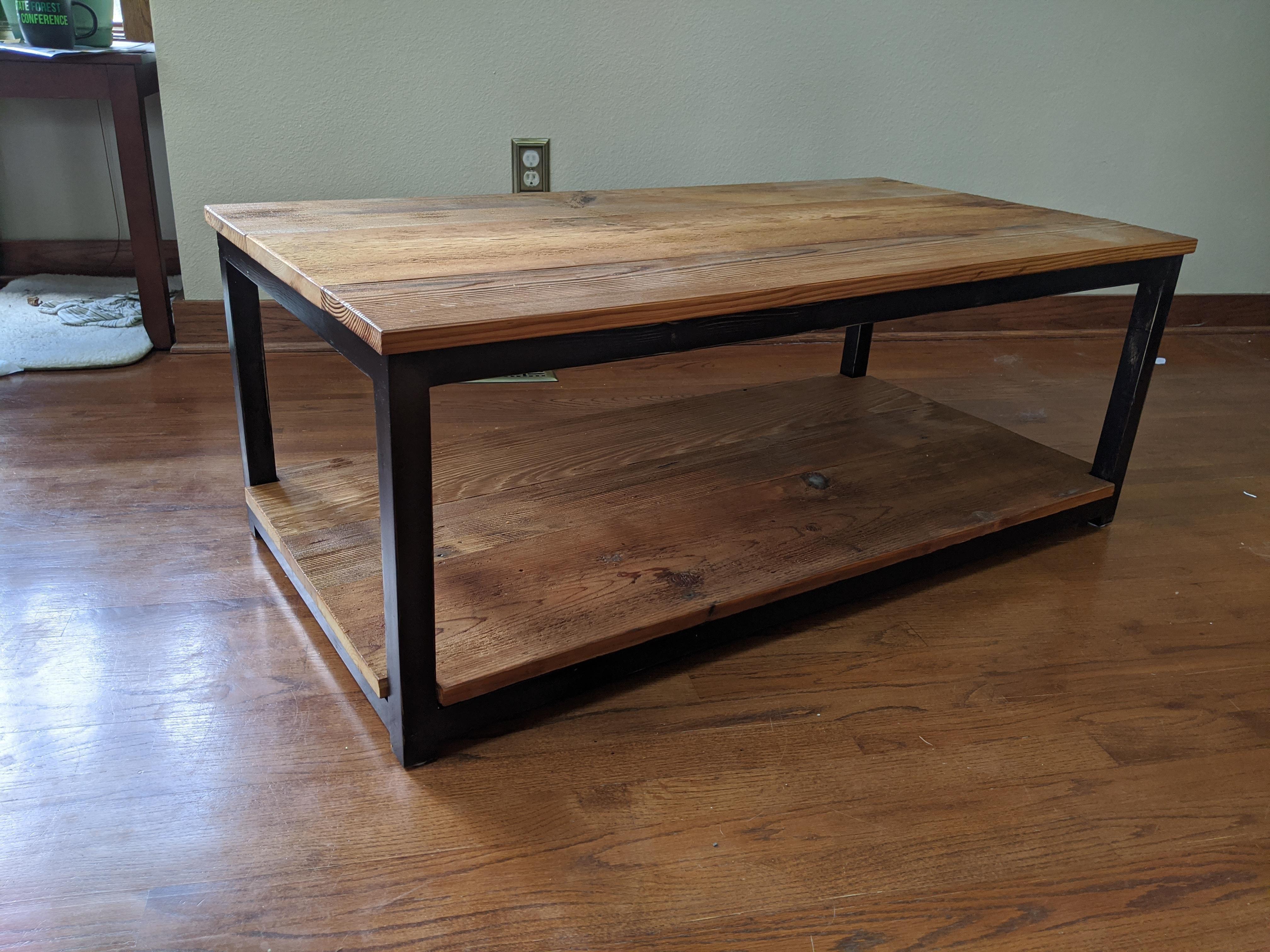 My First Big Build 2x4 And Barn Wood Coffee Table In 2021 Coffee Table Wood Coffee Table Barn Wood [ 3024 x 4032 Pixel ]