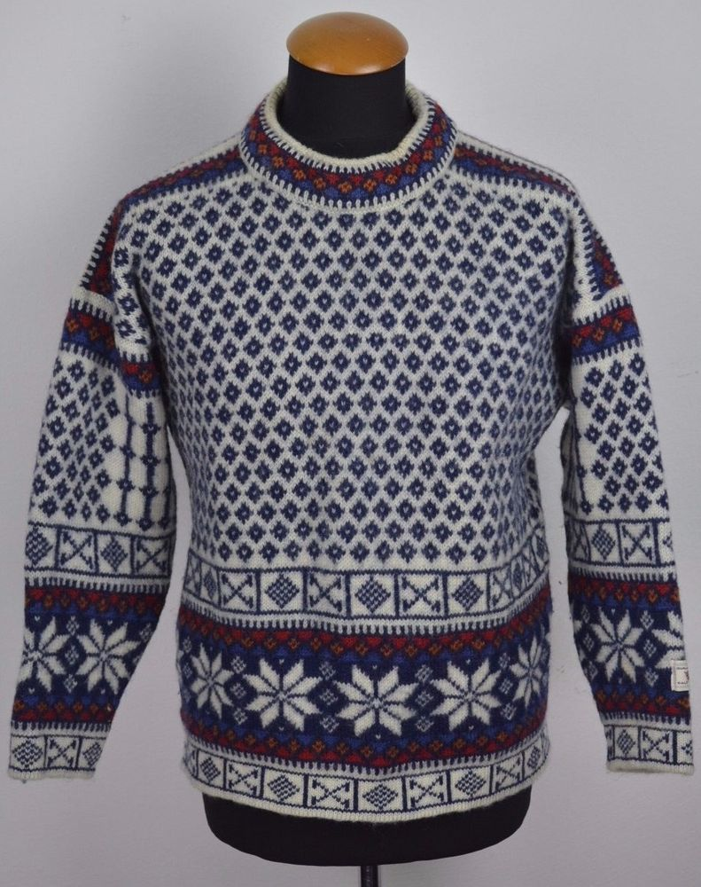 DALE OF NORWAY Wool M Jumper Sweater Fisherman Nordic Fair Isle M ...