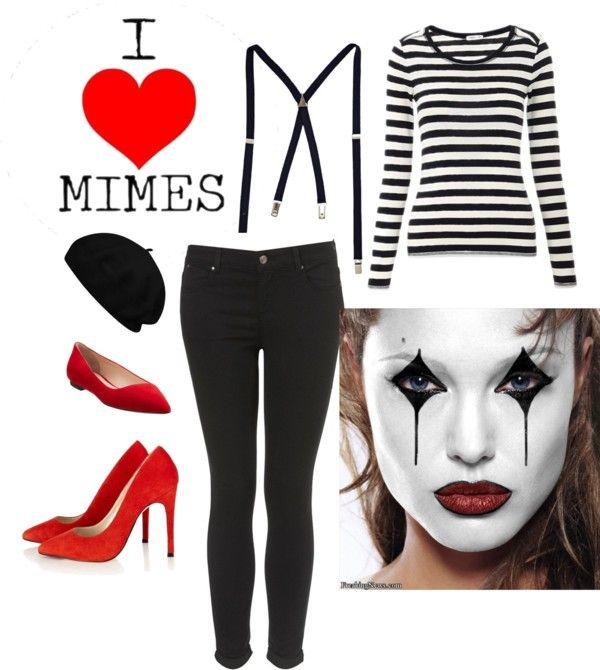 DIY Mime Costume by Mano y Metal  sc 1 st  Pinterest & DIY Mime Costume by Mano y Metal | Halloween | Pinterest | Mime ...