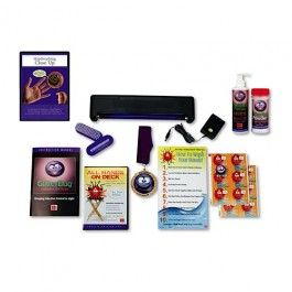 So much fun! GlitterBug Handwash Show Standard Kit, this set includes: GlowBar lamp with 4 D-cell batteries, AC/DC adapter for plug-in convenience, Handwashing DVD, GlitterBug Potion and Powder, instruction manual, poster, stickers, hand brushes, GlitterBug magnet and champion medallion.