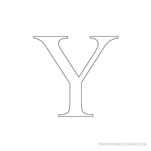 Printable Times New Roman Alphabet Stencil Y Shrift Alphabet