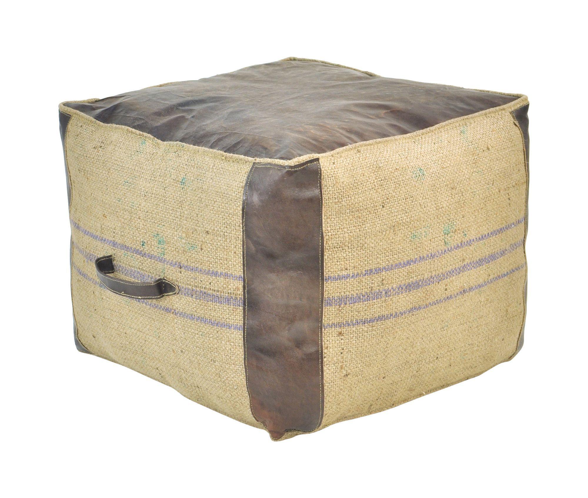 85 cube pouf tangier outdoor cube pouf pouffe. Black Bedroom Furniture Sets. Home Design Ideas